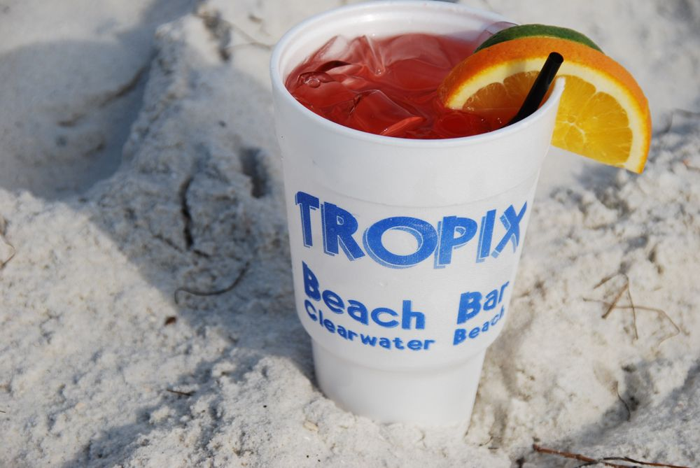 Tropix Beach Bar: 655 S Gulfview Blvd, Clearwater Beach, FL