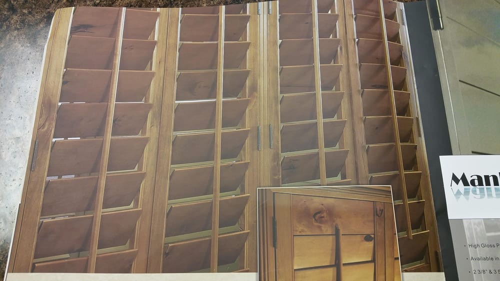 These shutters are made from notty alder wood giving the for Window fashions of texas