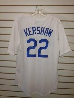 Mlb Los Angeles Dodgers Kershaw 22 White Home Replica