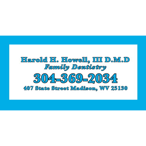 Harold H Howell III DMD: 407 State St, Madison, WV