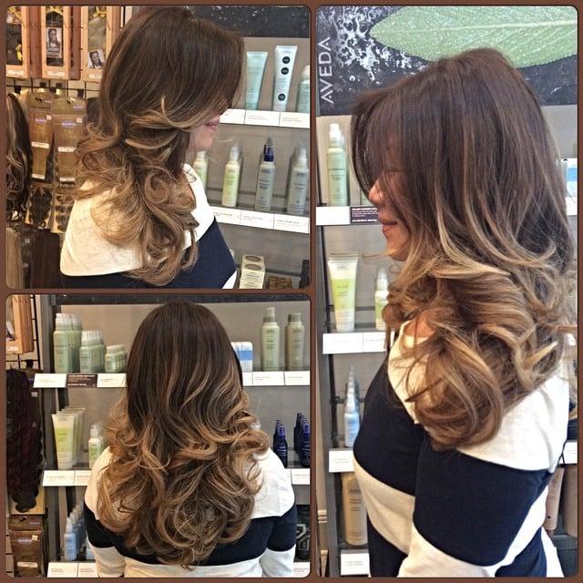 Natural golden honey blonde balayage on a natural light for A la mode salon brooklyn