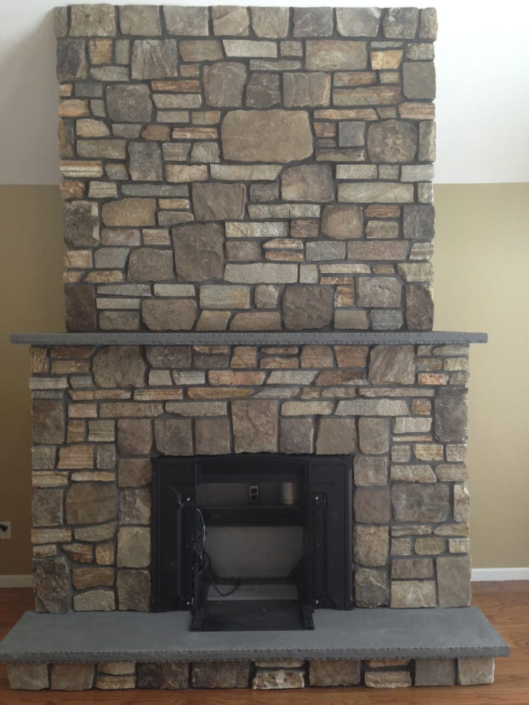 Real Stone Fireplace Built In Otisville Ny We Blended Two Types Of