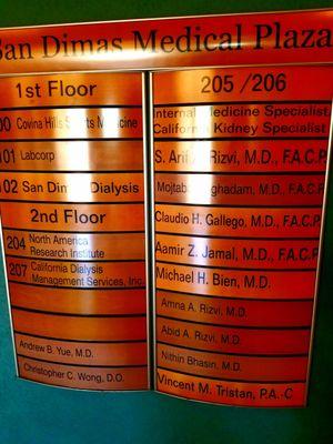 Lab Corp 1335 W Cypress St, STE 101 San Dimas, CA