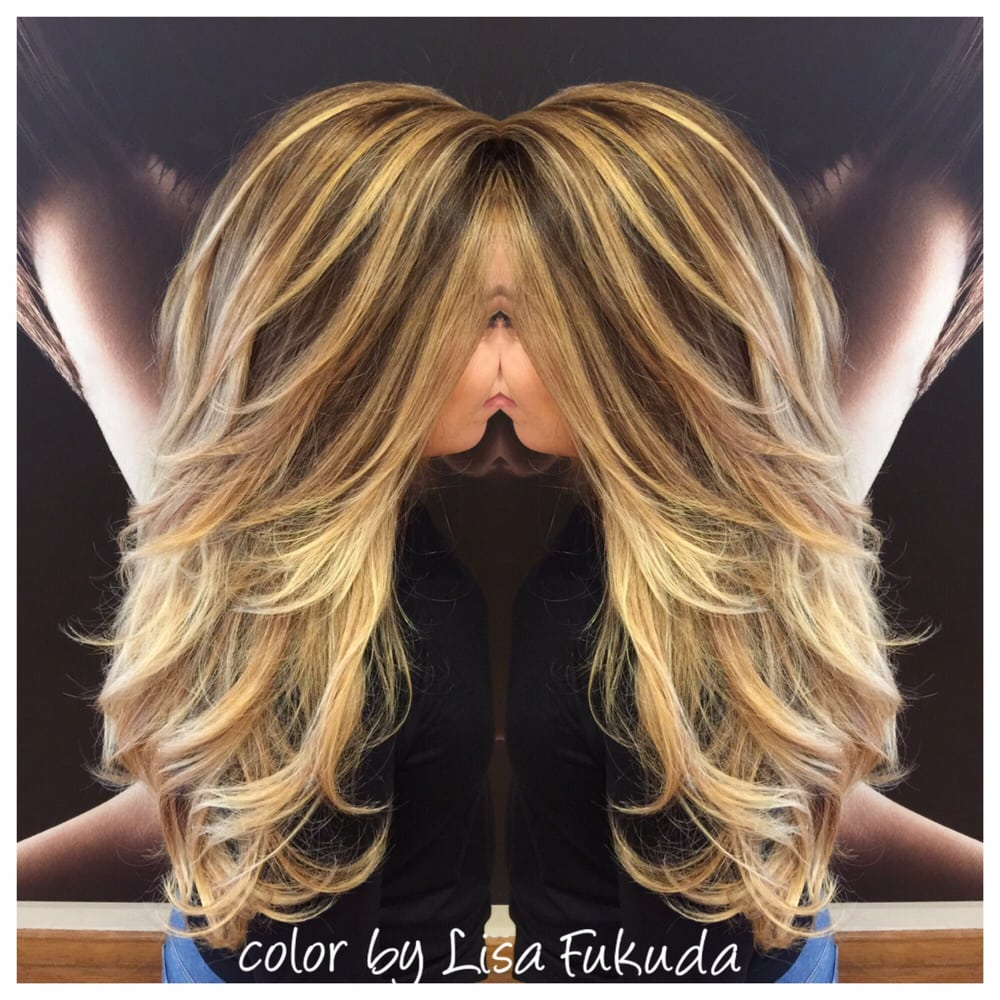Balayage Mermaid Blonde Ombr On Latin Brunette Hair Glaze Olaplex