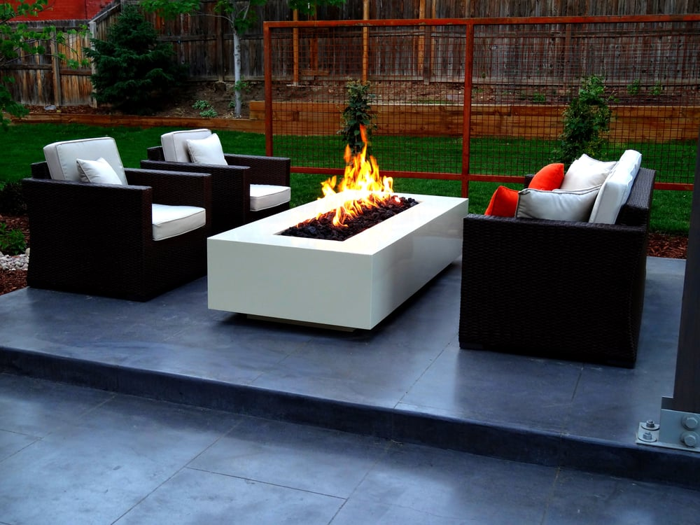 A Clean Modern Fire Pit And Patio Furniture Make This