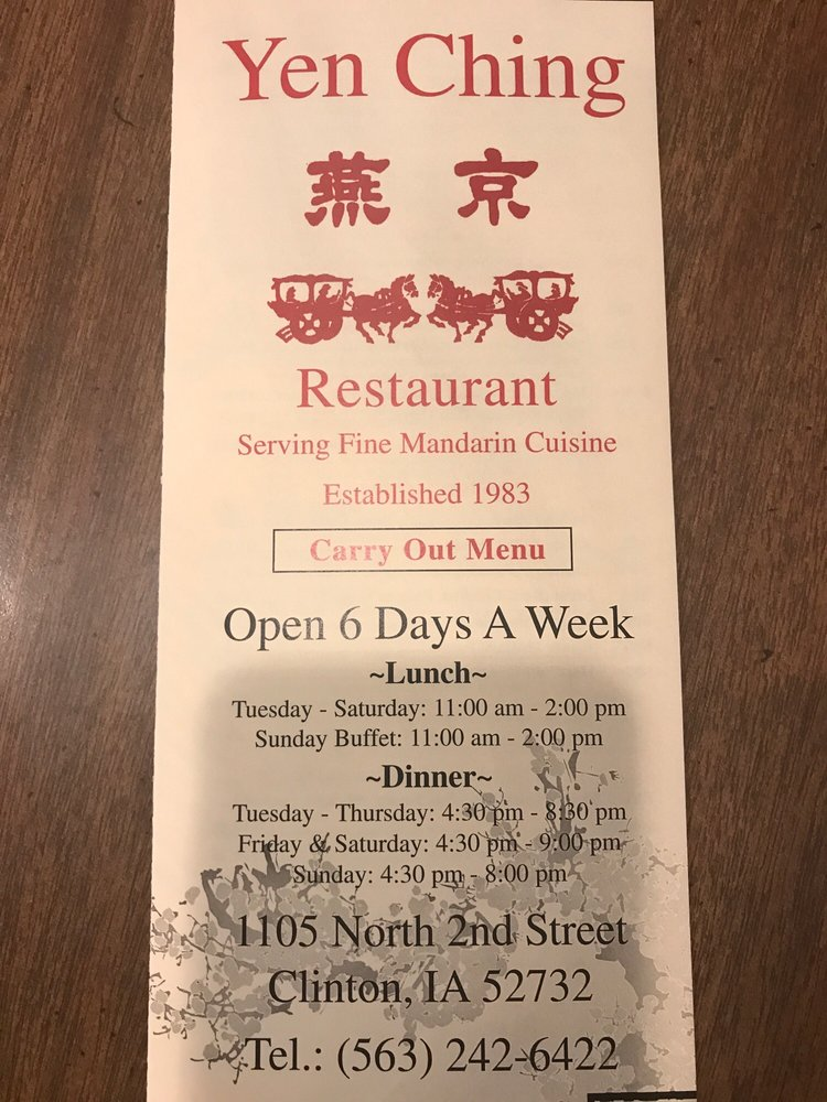 Yen Ching: 1105 N 2nd St, Clinton, IA