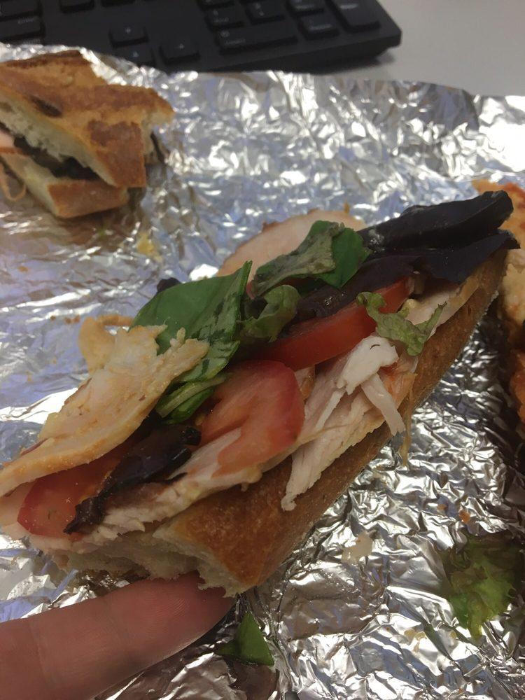 682da8207cc297 Mediterranean turkey sandwich (spicy) through MealPal. Hardly any ...