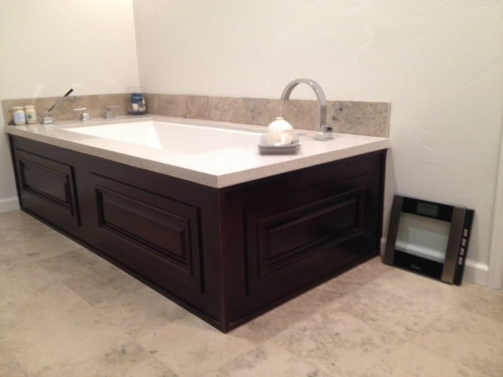 Wood panel tub surround custom built by Jake Glerup - Yelp