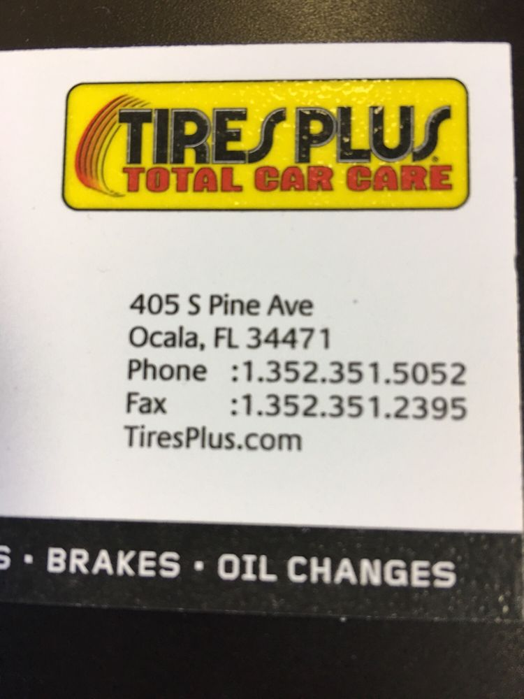 Tires Plus Tires 405 S Pine Ave Ocala Fl Phone Number Yelp