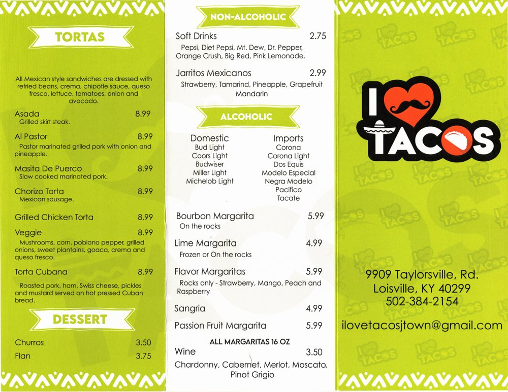 I Love Tacos: 9909 Taylorsville Rd, Louisville, KY