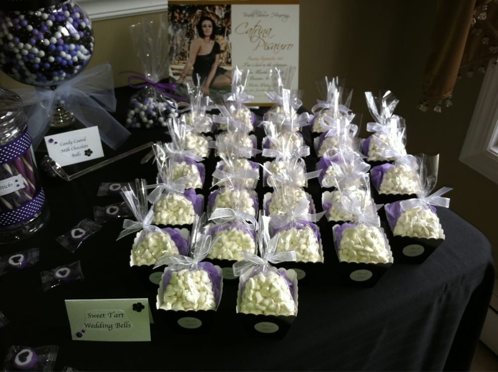 Blackwhitepurple Bridal Shower Favors Sweet Tart Wedding