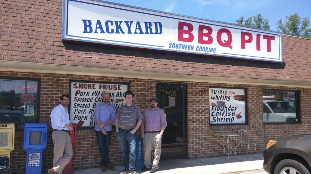photo of backyard bbq pit durham nc united states outside of this