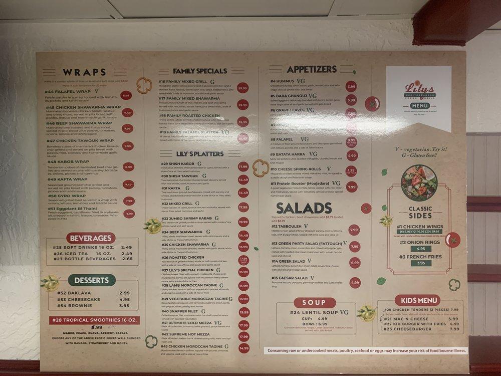 Lily's Mediterranean fresh Grill: 2 5th Ave, Indialantic, FL