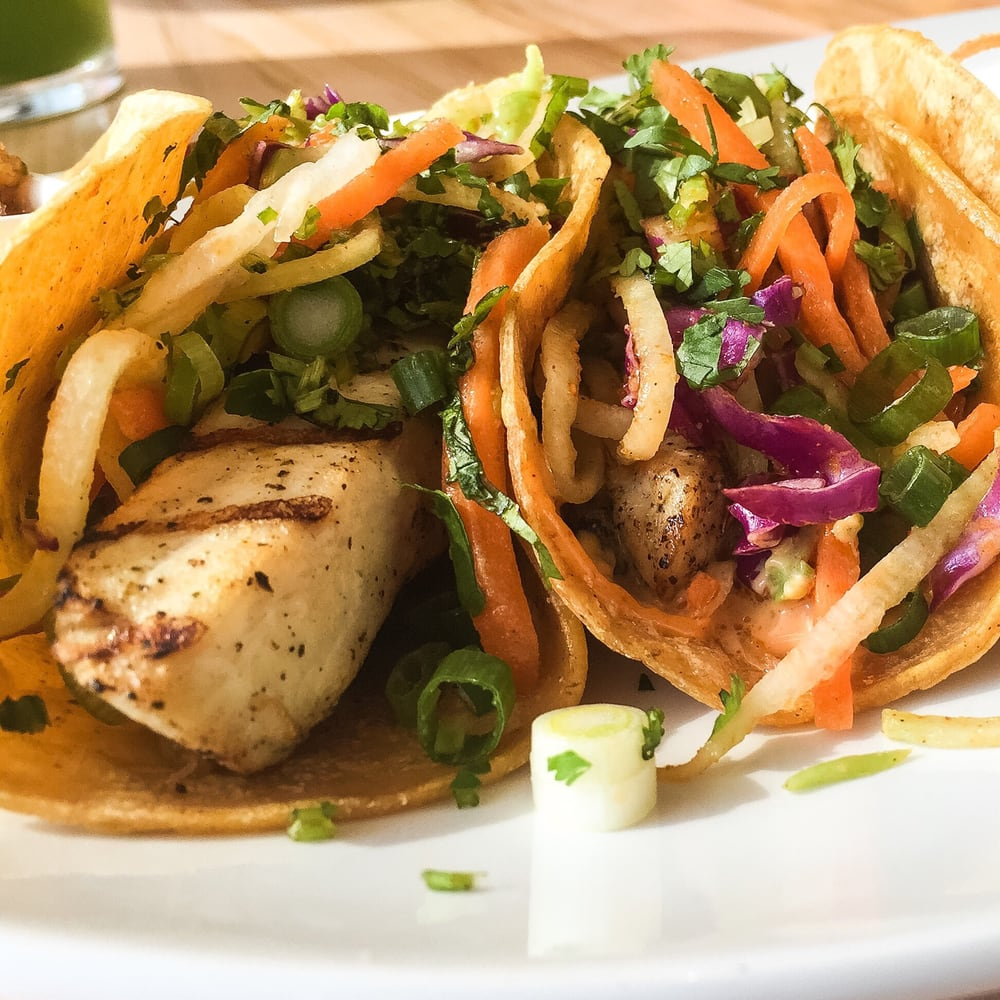 Lyfe Kitchen Yelp: Grilled Mahi Fish Tacos With Chayote Slaw. Excellent And