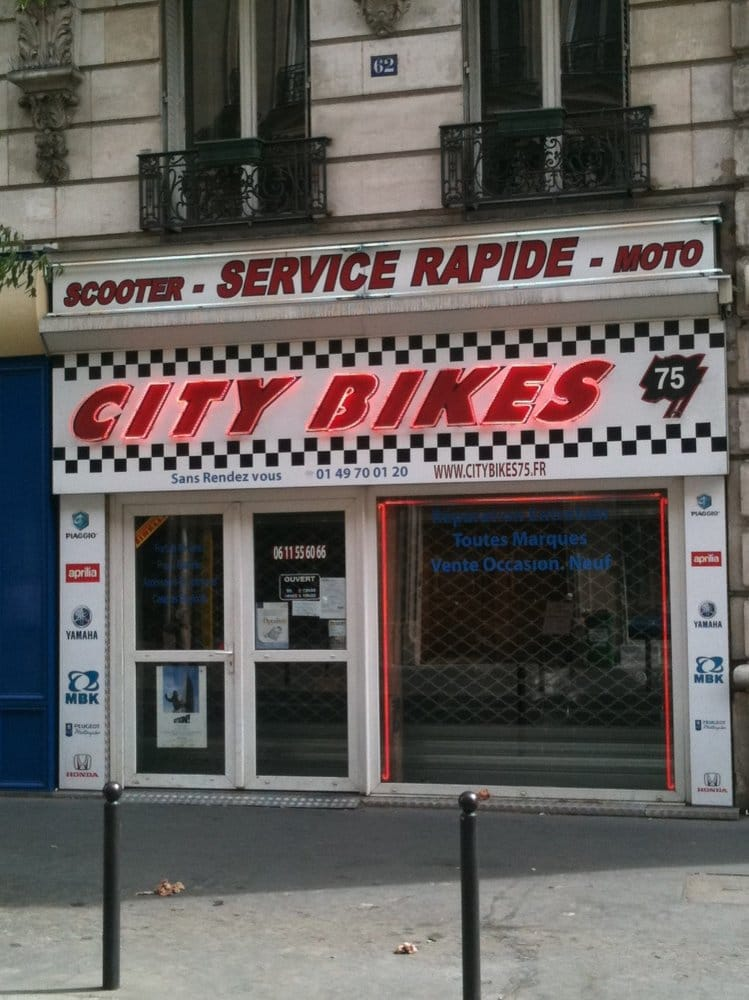 city bikes 75 r paration moto 62 rue maubeuge. Black Bedroom Furniture Sets. Home Design Ideas
