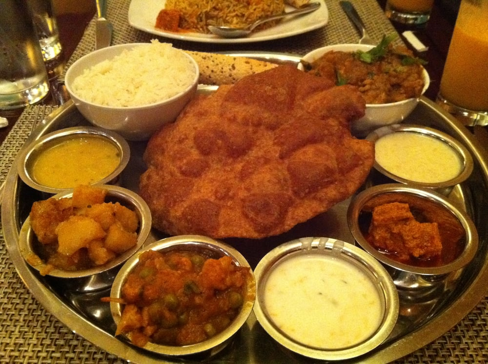 Regular thali w chicken yelp for Aditi indian cuisine