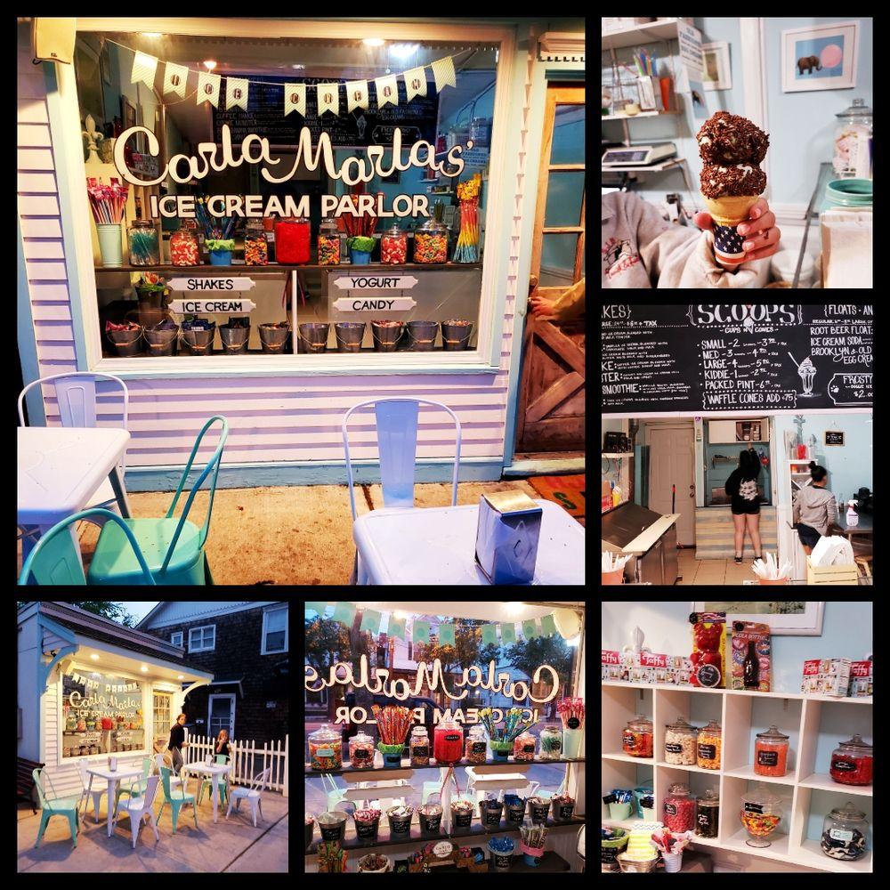 Carla Marla's Ice Cream Parlor: 8 Bellport Ln, Bellport Village, NY