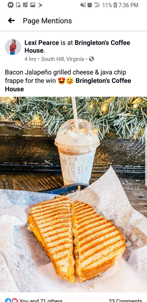 Bringleton's Coffee House: 126 N Mecklenburg Ave, South Hill, VA