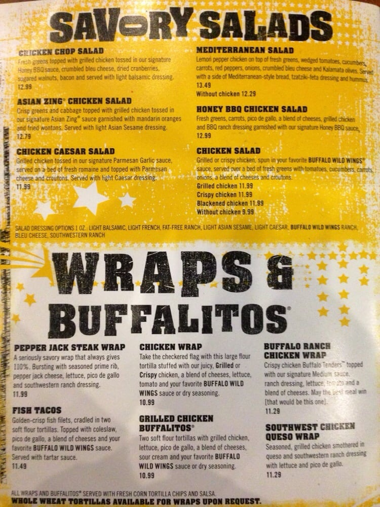 buffalo wild wings menu pdf 2014
