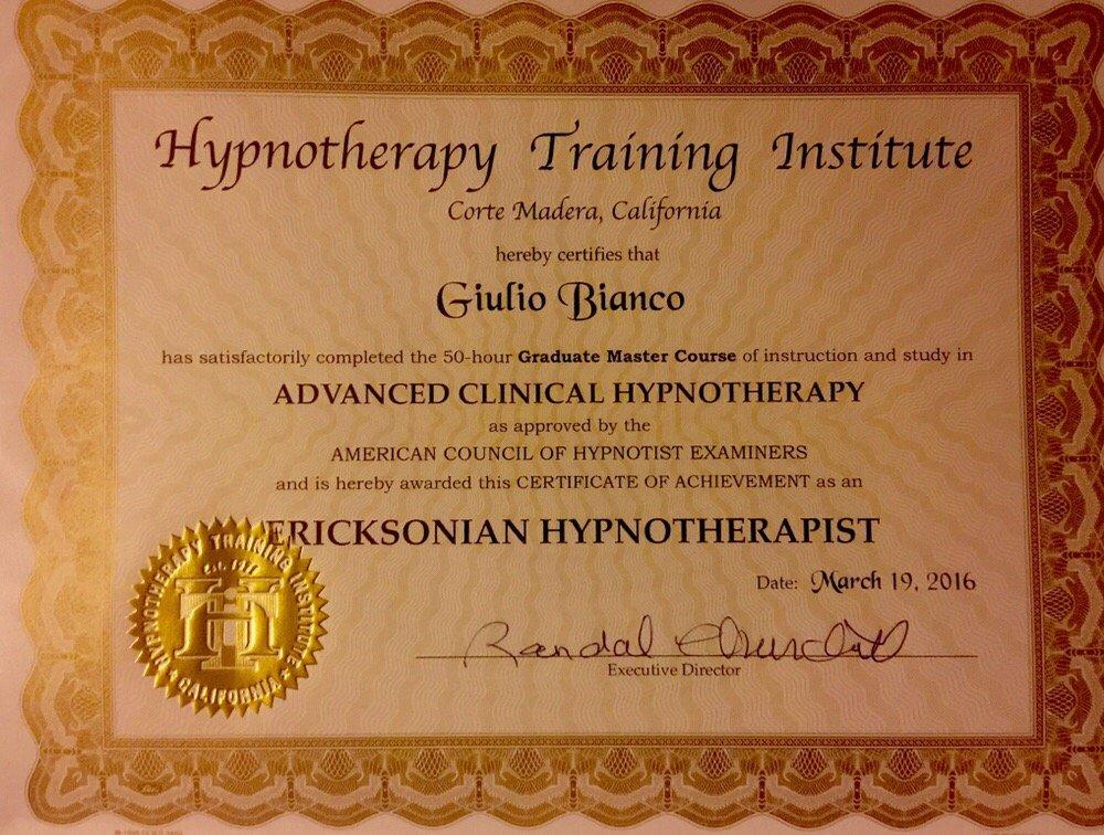 Advanced Ericksonian Hypnosis Certification Yelp