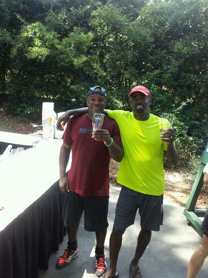 Photo of Tennis Lessons By Mcclain - San Francisco, CA, United States. My brother and I winning a men's doubles tournament in South Carolina