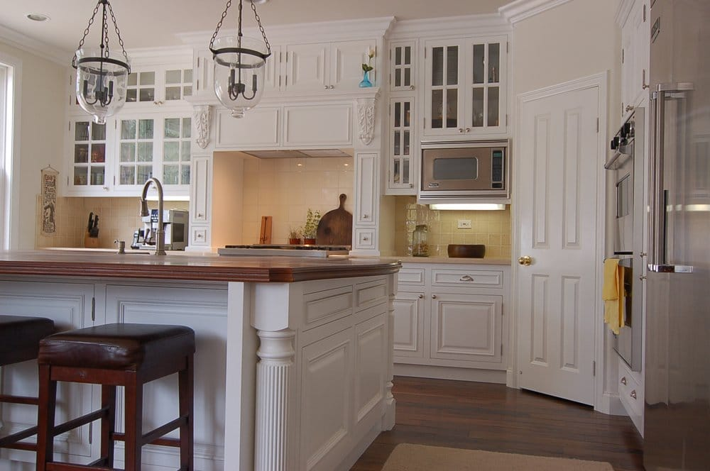 San Diego remodel Custom kitchen cabinets with large