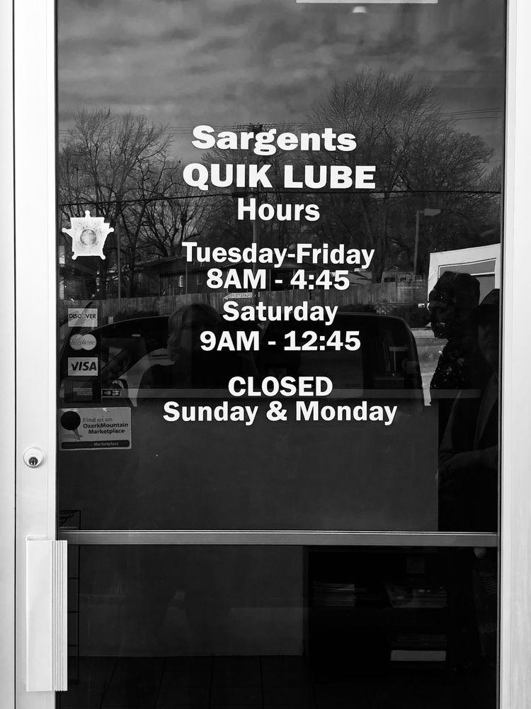 Sargents' Quik Lube: 602 W Trimble Ave, Berryville, AR