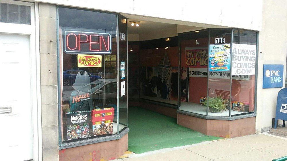New Dimension Comics - Butler: 108 S Main St, Butler, PA