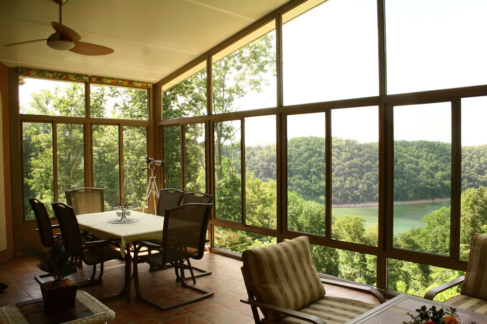 Beautiful view from a sunroom we built in sparta tn yelp for American home design goodlettsville tennessee