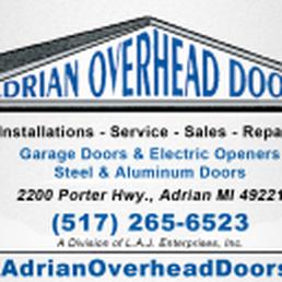Adrian Overhead Doors Garage Door Services 2200 Porter