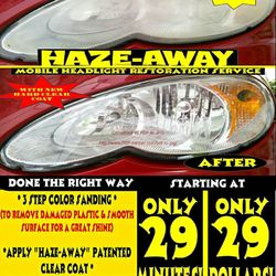 Haze Away Headlight Restoration 22 Photos Auto Repair Dana