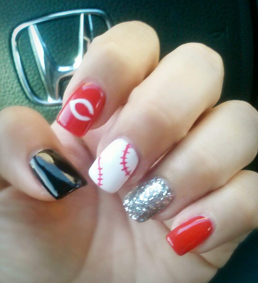 Cincinnati Reds Baseball Nail Design By Eric Yelp