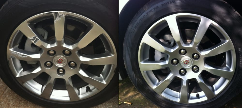 Bent Rim Repair Near Me >> before and after curb rash. my cadillac cts wheels in hyper silver. - Yelp