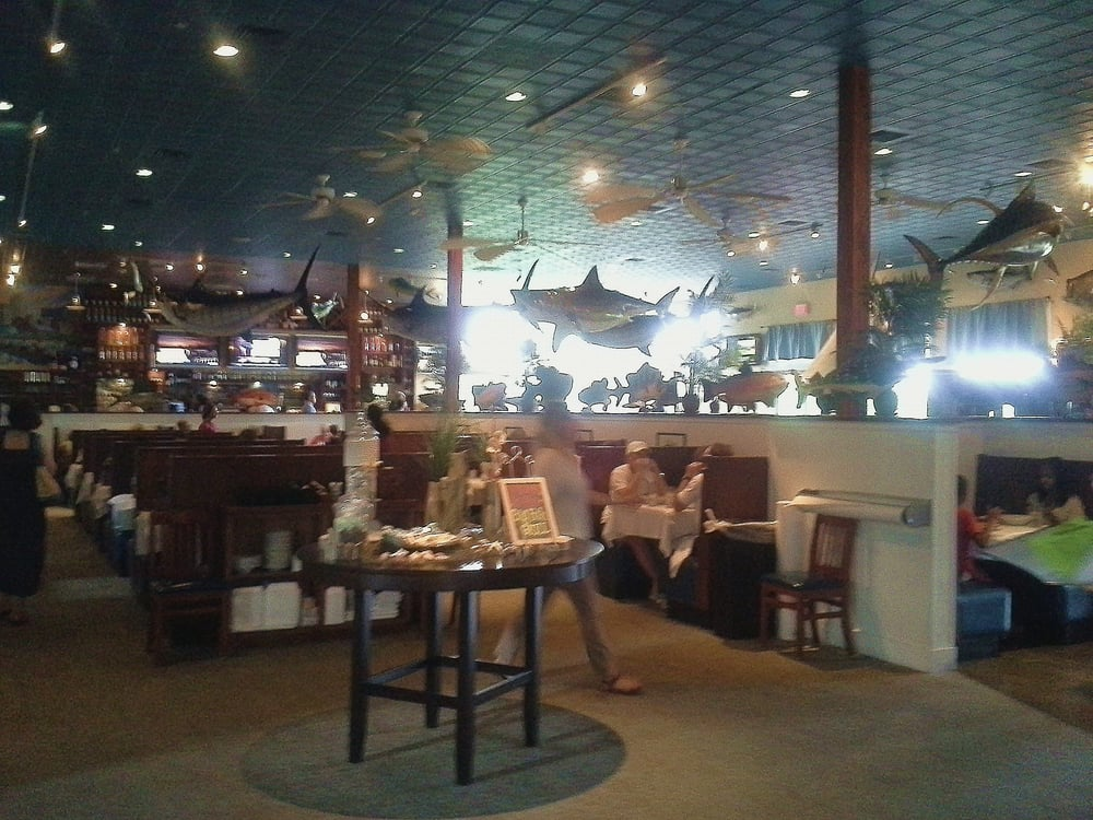 View as you walk in yelp for Big fish grill on the riverfront wilmington de
