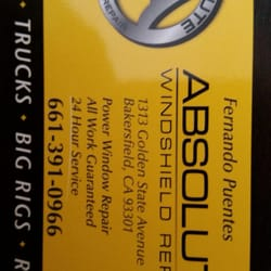 Absolute windshield repair 10 photos auto glass 1313 for Golden state motors bakersfield