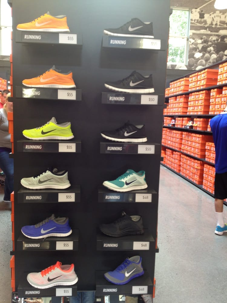 We love buying shoes at the Nike Employee Store.