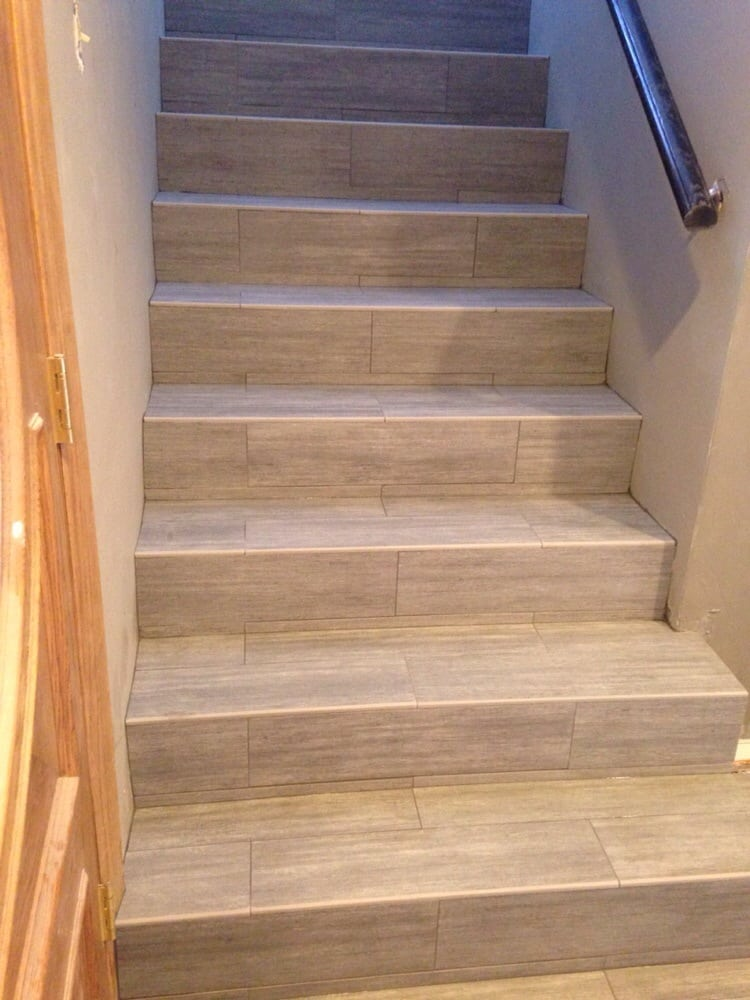 Porcelain Wood Plank Stairs Yelp