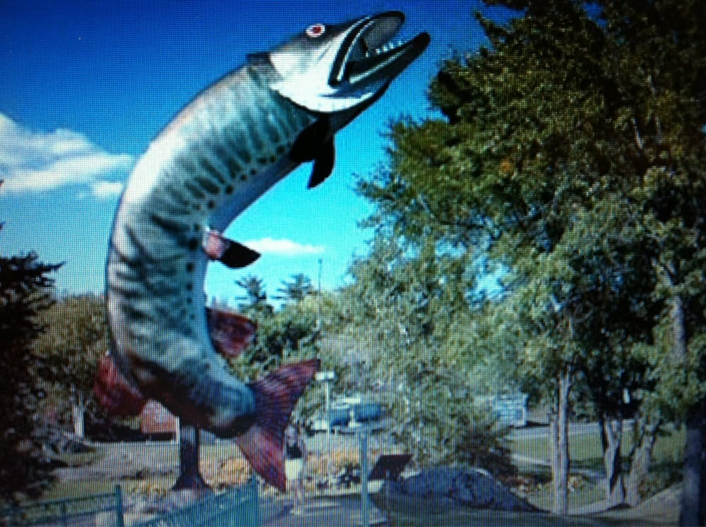 Husky The Muskie: Lakeview Drive, Kenora, ON
