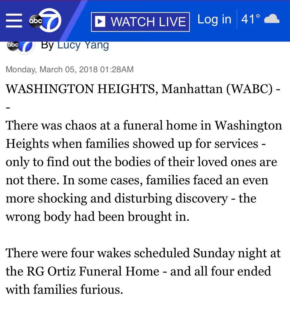 Ortiz R G Funeral