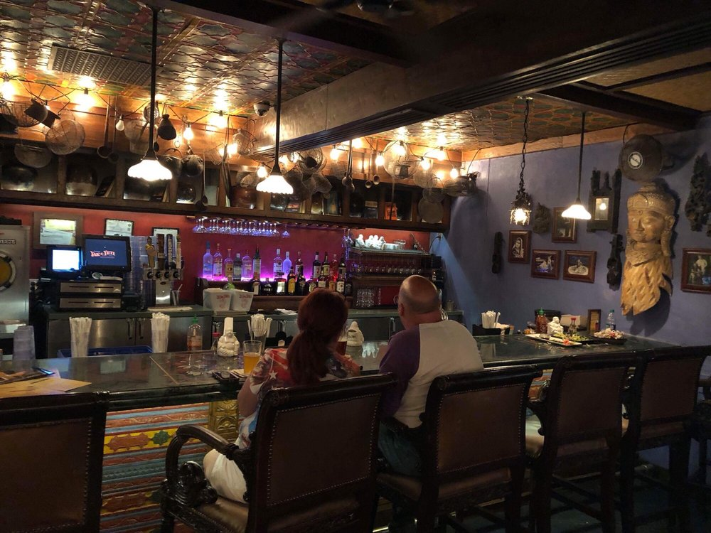 Cool interior decor at Yak & Yeti thai restaurant, animal ...