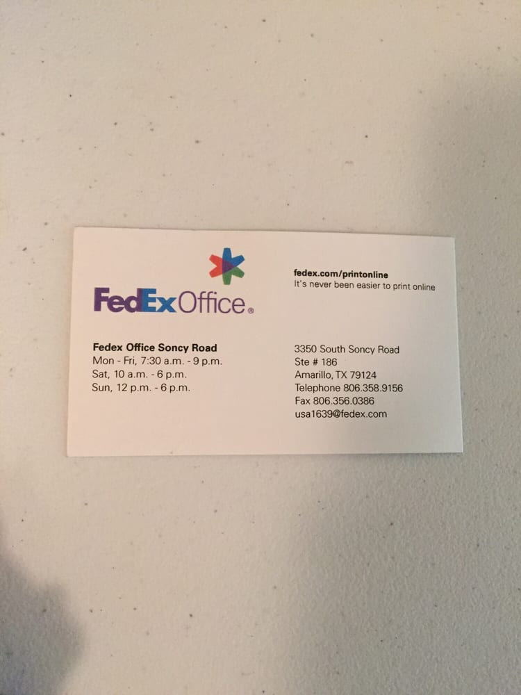 Business card yelp photo of fedex office print ship center amarillo tx united states colourmoves