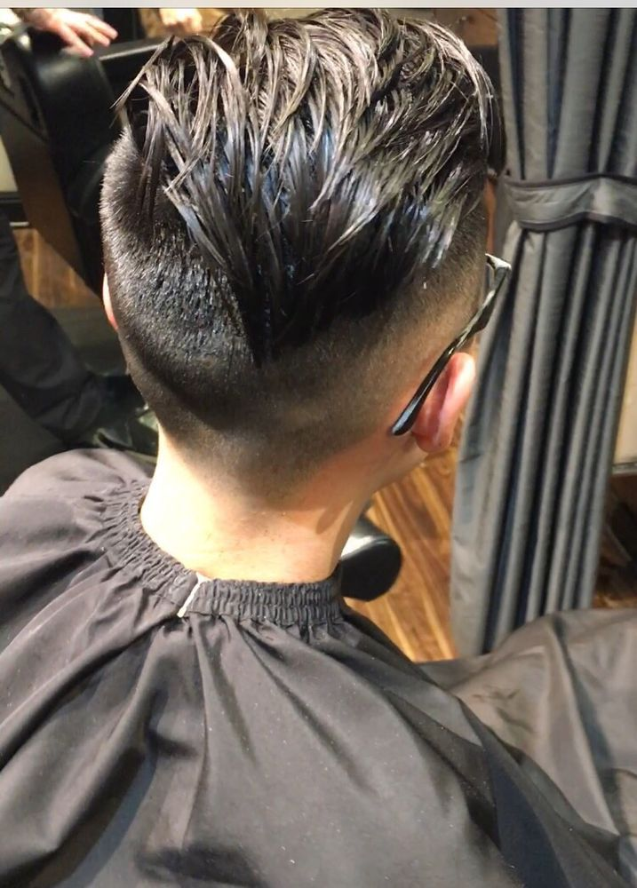 Haircut By Aaron At Gent Tight Fade Long On Top With A Hard Part