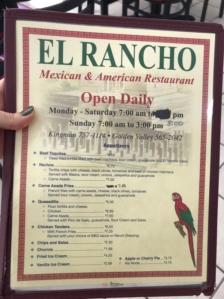 El Rancho Restaurant: 4998 Stockton Hill Rd, Kingman, AZ