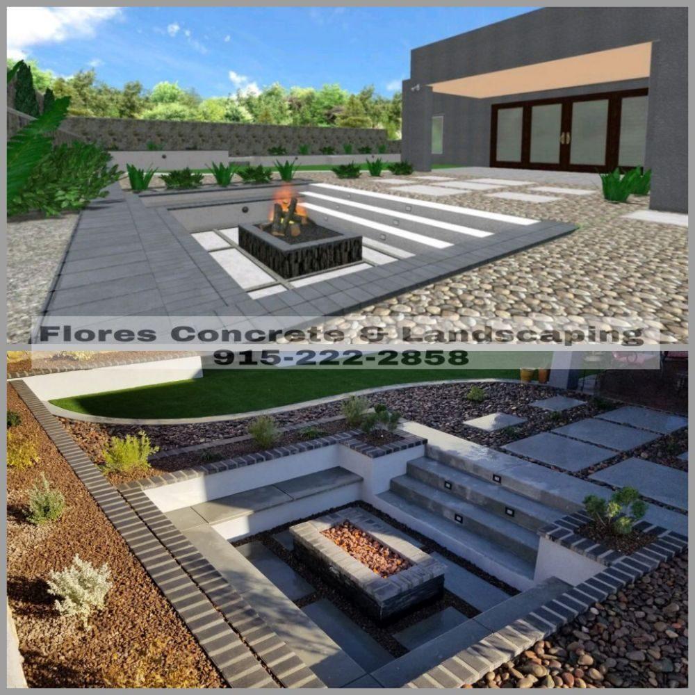 Flores Concrete & Landscaping: 14825 Harry Flournoy Ave, El Paso, TX