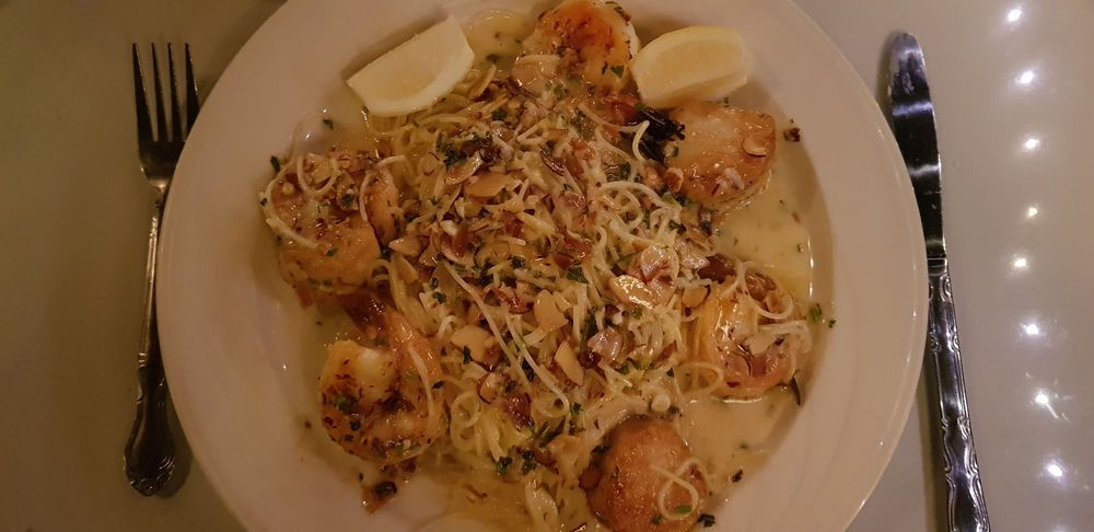 Scallops And Shrimp With Angel Hair Pasta Yelp