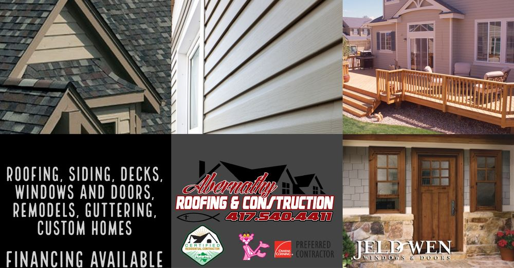 Abernathy Roofing and Construction: 1901 N Rangeline Rd, Joplin, MO