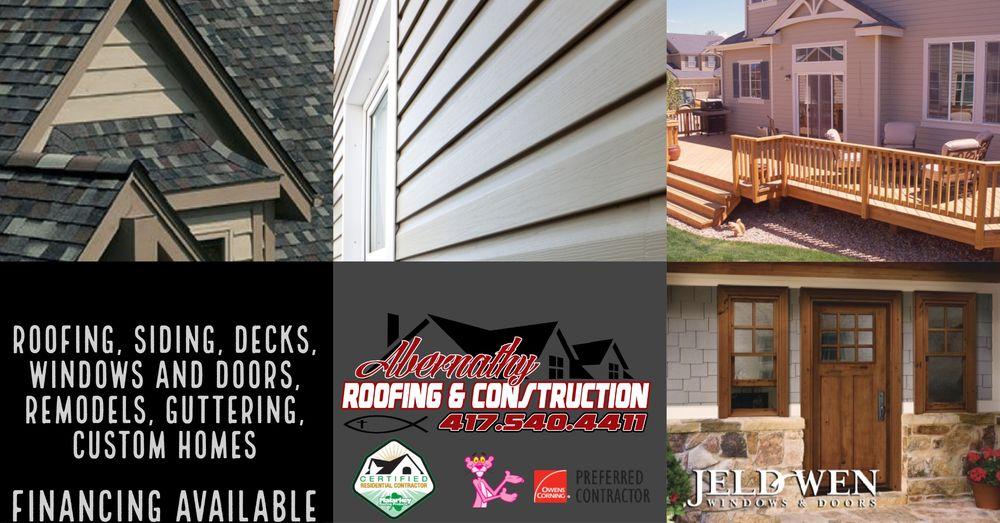 Abernathy Roofing and Construction: 1901 N Rangeline Rd, Joplin, MO