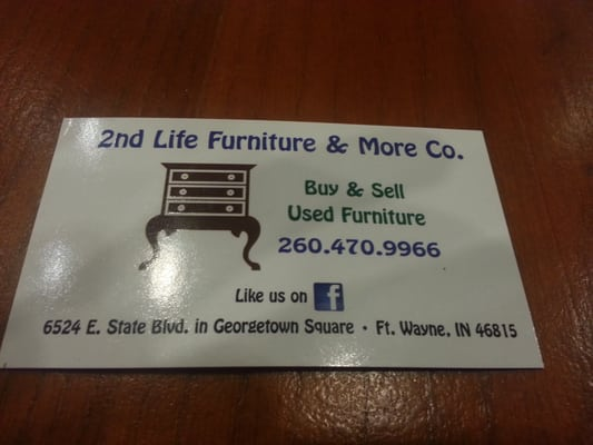 Photo of 2nd Life Furniture   More   Fort Wayne  IN  United States. 2nd Life Furniture   More   Furniture Stores   6524 E State Blvd