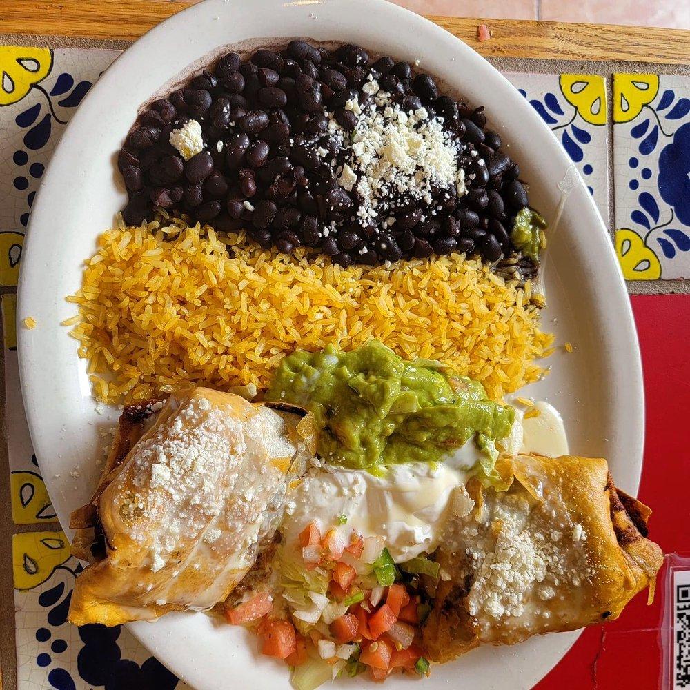 Food from El Potro Mexican Grill