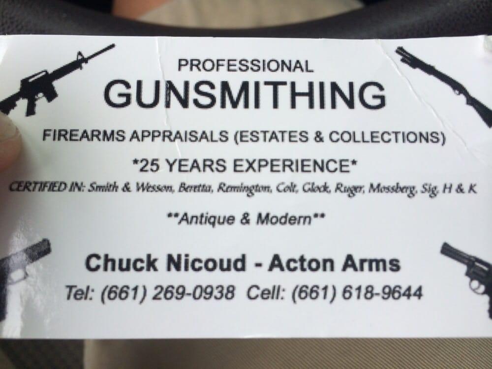 Acton Arms Gunsmithing - Gunsmith - Acton, CA - Phone Number - Yelp